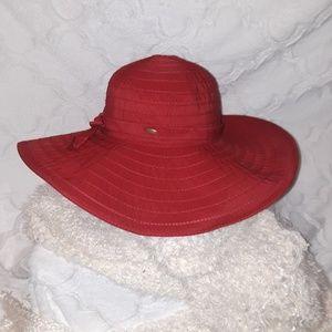 Scala Red Sunhat